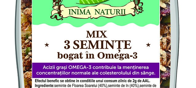 Mix 3 seminte Omega-3 Pirifan
